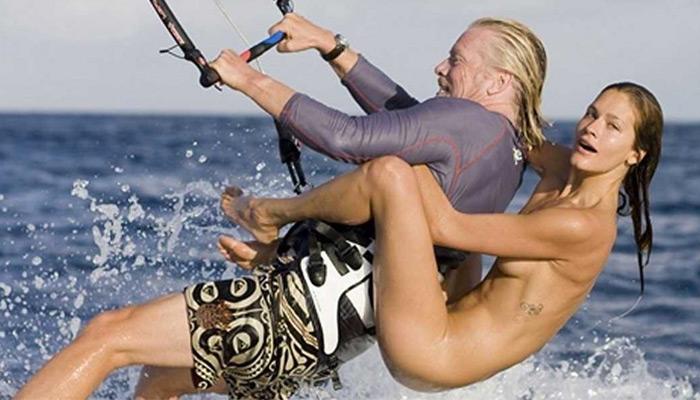 virgin kite surfing model