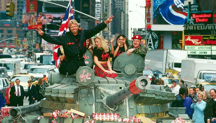richard branson tank virgin cola